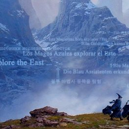 Ted Nasmith's The Blue Wizards Journeying East, used for The Lord of the Rings: A Cultural Studies and Audience Reception Approach