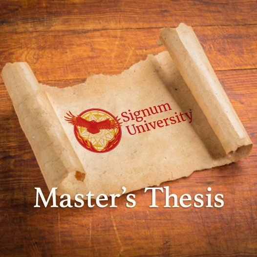 Master's Thesis: Language & Literature